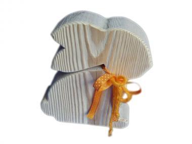 Osterhase sitzend - Schleife