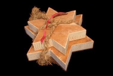 Holzsterne Paket - Geschenkdeko
