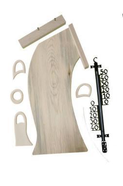Außenthermometer Holz – groß - DiY-Set