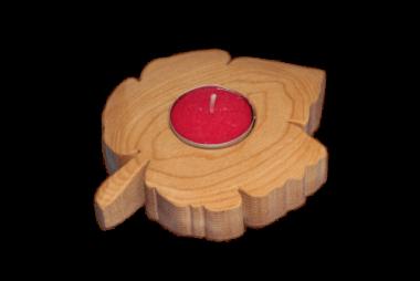 Teelichthalter Ahorn - Holzdeko