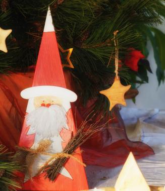 Deko Weihnachtsmann - Holz