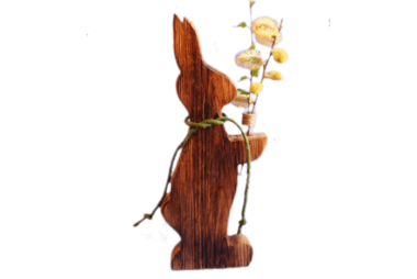 """Deko-Hase """"stehend"""" mit Blumenhalter"""