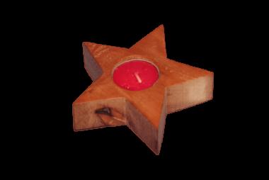 Teelichter Edelholz - Stern