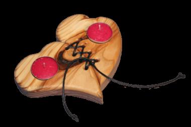 Teelichthalter Herz - Holzdeko