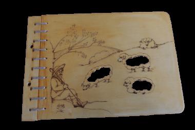 Album Holzeinband - handgeschöpftes Papier