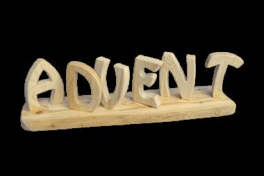 """Schriftzug """"Advent"""" - Holz Deko"""