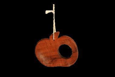 Dekoanhänger Apfel - Holz