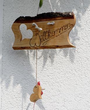 """Türschild """"Willkommen"""" aus Holz"""