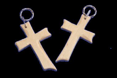 Schlüsselanhänger Holz-Kreuz